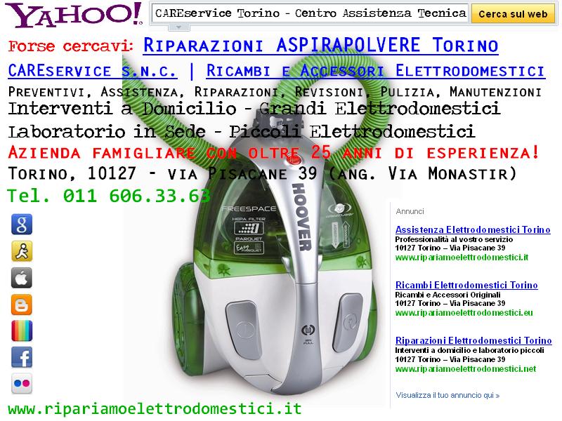 Cs, CAREservice riparazioni-aspirapolvere ASSISTENZA ASPIRAPOLVERE TORINO Assistenza Elettrodomestici  elettrodomestici assistenza aspirapolvere