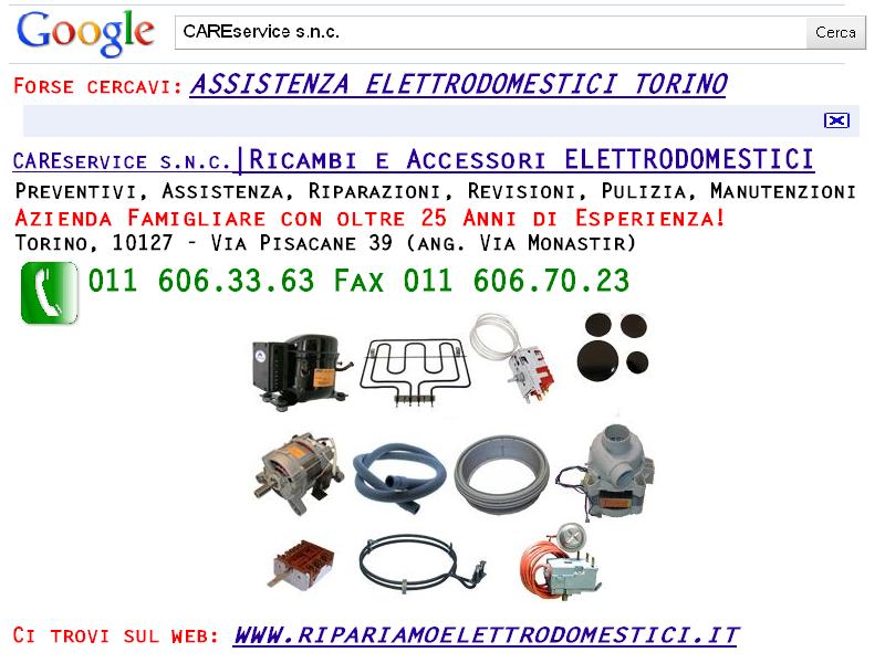 Cs, CAREservice ricambi-elettrodomestici RICAMBI ELETTRODOMESTICI TORINO Assistenza Elettrodomestici  ricambi elettrodomestici