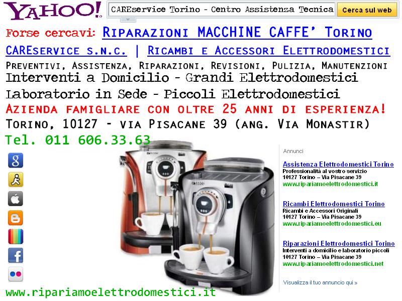 Cs, CAREservice riparazioni-espresso ASSISTENZA MACCHINE CAFFE' ESPRESSO TORINO Assistenza Elettrodomestici  macchine caffè espresso elettrodomestici assistenza