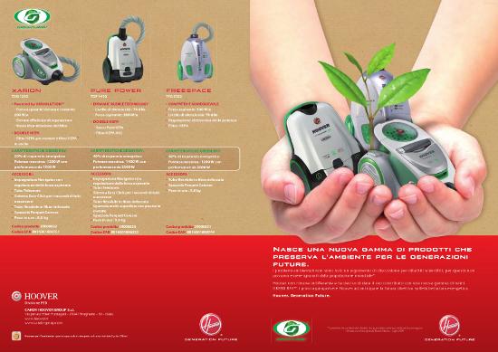 Cs, CAREservice hoover-aspira-brochure-green-ray HOOVER | GREEN RAY [BROCHURE] Brochure Hoover  Green Ray catalogo Brochure