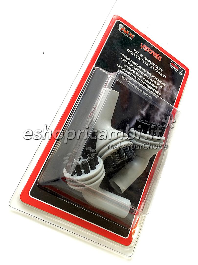 Cs, CAREservice PAEU0211-4 POLTI | Kit 3 spazzolini con setole in nylon [PAEU0211] Polti Pulizia  PAEU0211