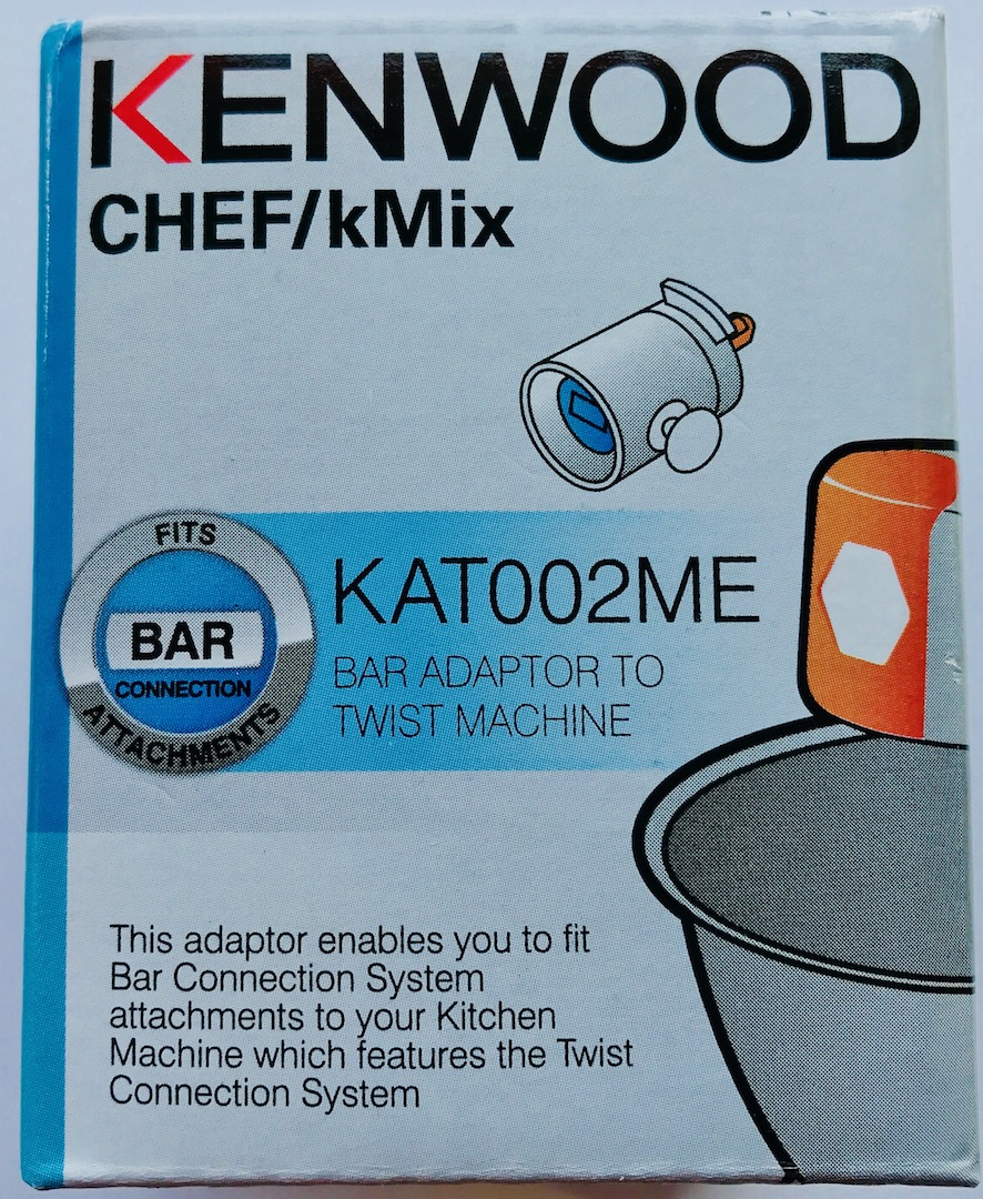 Cs, CAREservice bar-to-twist-a Kenwood Kitchen Machines – Accessories & Attachments – KAT002ME – Chef Bar To Twist Adapter [video] Accessories & Attachments Kenwood  KAT002ME KAT001ME